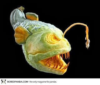 scary fish halloween pumkin