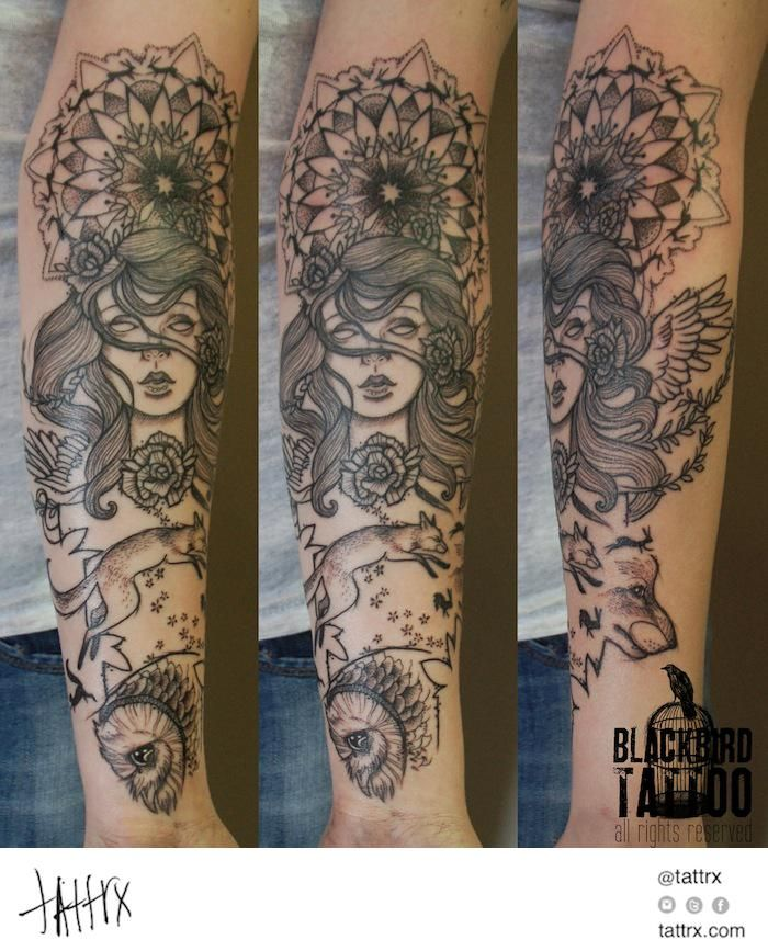 """Riet Stoops BlackBird Tattoo - """"Mother Nature"""" tattrx.com/artists/blackbird-tattoo tumblr: @blackbirdinkhouse"""