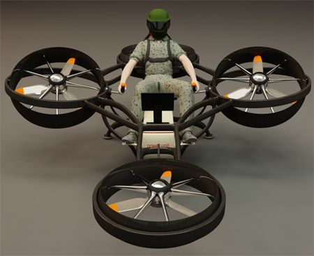 Ultra-lightweight mosquito helicopter concept