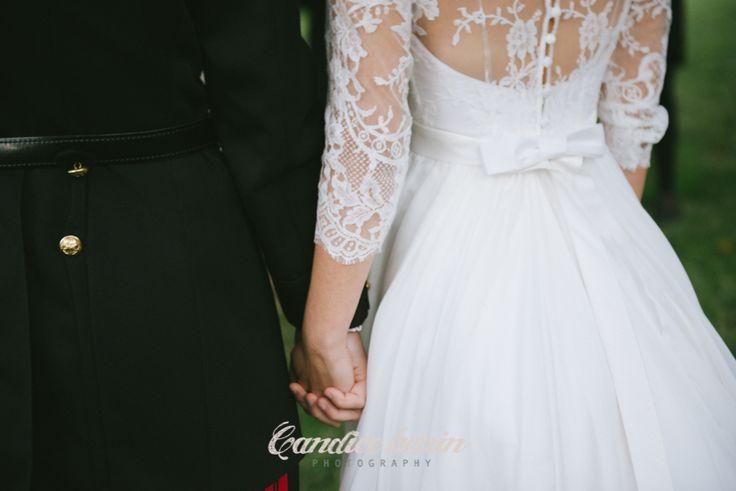 Robe David Purves pour mariage normand romantique / LPFAE