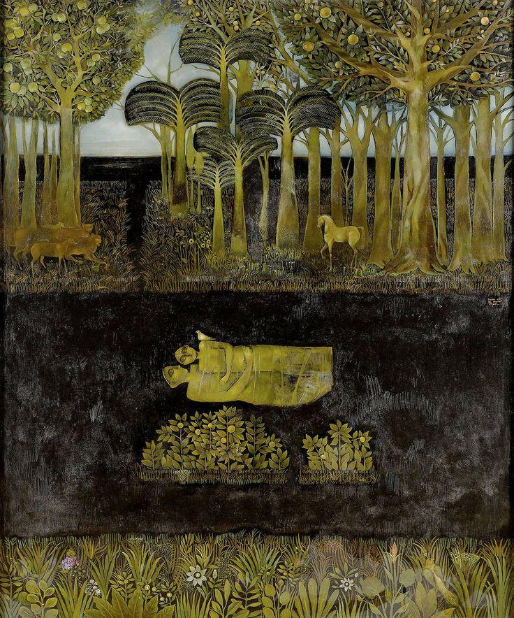 "cinoh: "" Suad al-Attar (1942- ),Iraqi painter Garden of Eden (1993) """