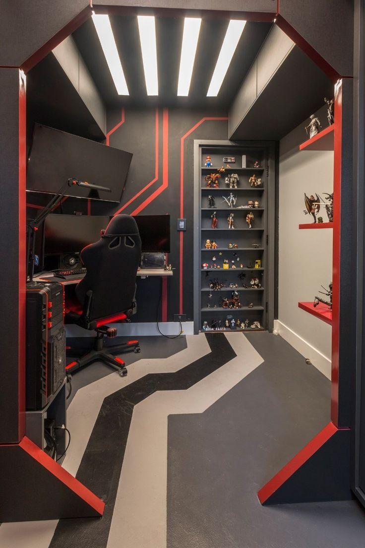 Computer Gaming Room, Gaming Room Setup, Cool Gaming Setups, Gamer Setup, Gaming Rooms, Gamer Bedroom, Bedroom Setup, Dream Home Design, House Design