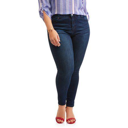 Petite Bandolino Women's Plus Millennial Curvy Jeans, Size: 18W Petite, Gray
