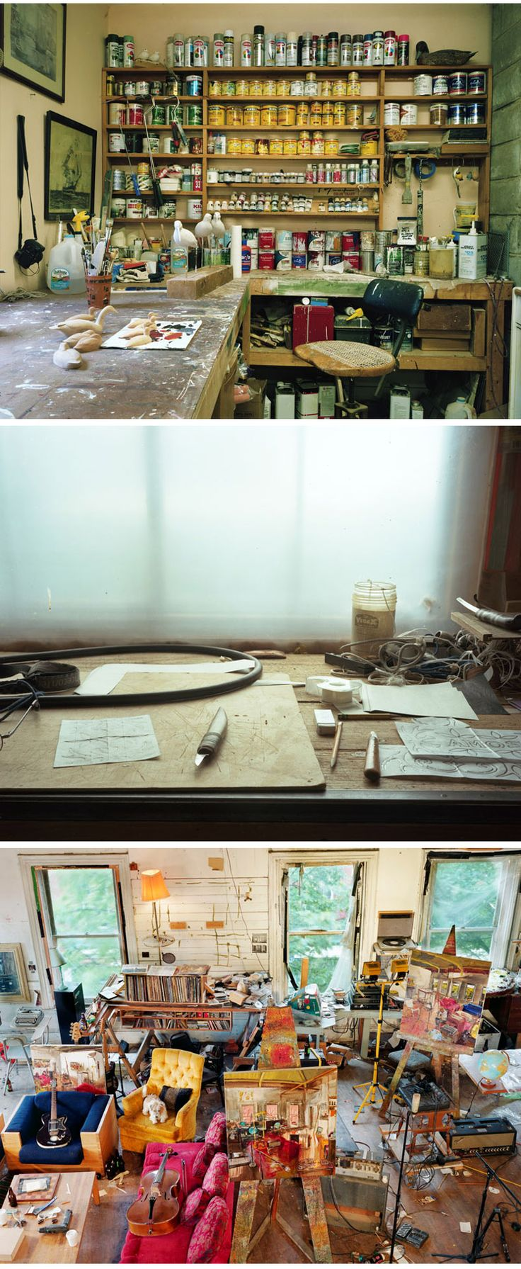 Meggan Gould #workspace #studio http://thefoxisblack.com/2012/09/25/workspaces-an-exploration-into-the-places-we-make-by-meggan-gould/