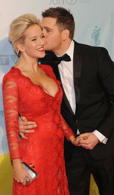 Michael Buble and wife Luisana Lopilato