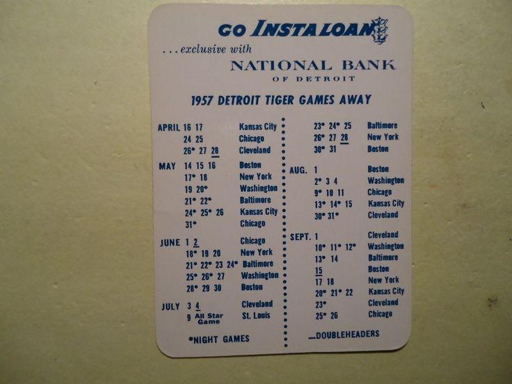 original 1957 #Detroit #Tigers #Baseball schedule from $7.95