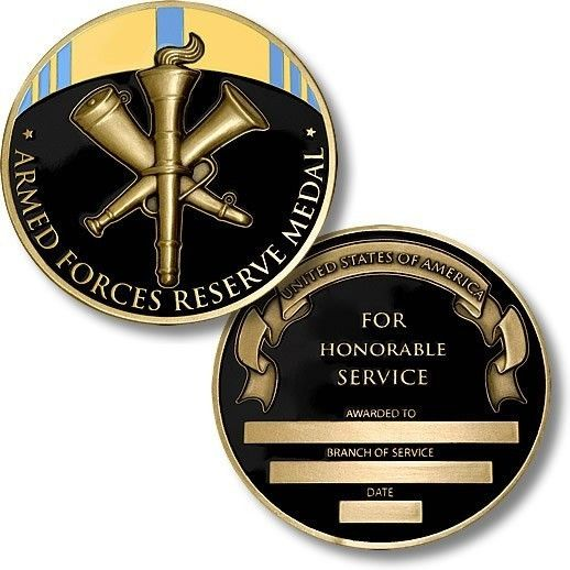 Armed Forces Reserve Medal Coin
