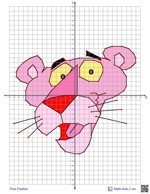 Quadrant graphing characters worksheets - what the what?!  It's like dot-to-dot for math!