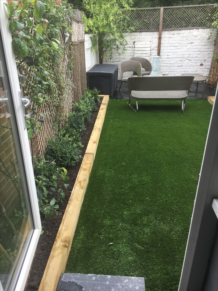Small garden transformation with new high quality Artificial Grass