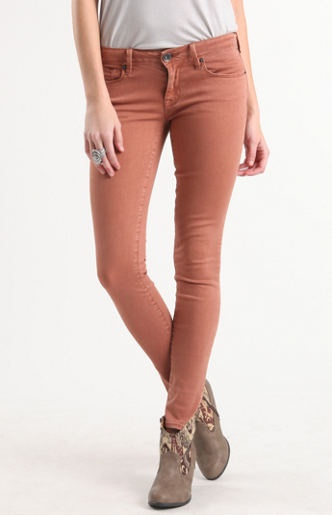 Colored Cinnamon Skinny Jeans
