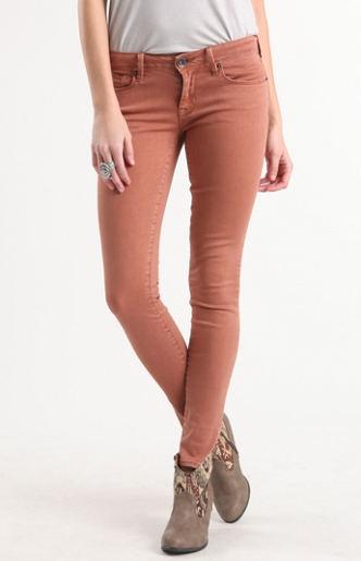 Colored Cinnamon Skinny Jeans