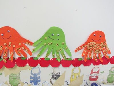 50 best images about 20 animals on land sea on for Octopus craft for preschool