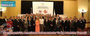 """Kaliforniya'nın başkenti Sacramento'da """"CATA Chamber Turkic-Amerikan Parlementerler ve İş adamları Yemeği"""" gerçekleştirildi."""