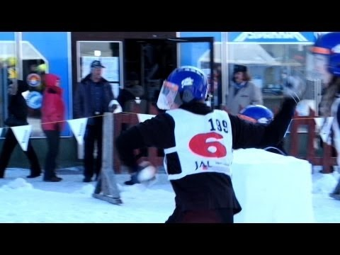 Kemijärvi Yukigassen snowball fight competition in Lapland, Finland - looks like fun!