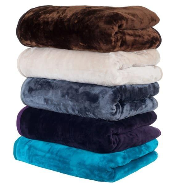 8-Pound Lavish Home Solid Soft Heavy Thick Plush Mink Blanket Grey