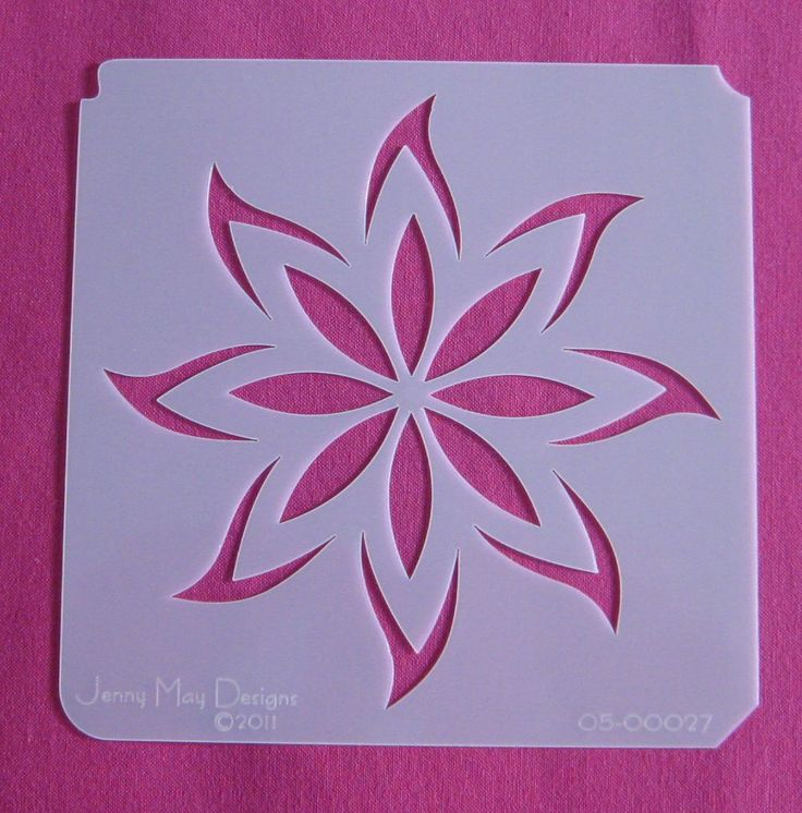 Flower stencil craft room pinterest stenciling for Design patterns for pot painting