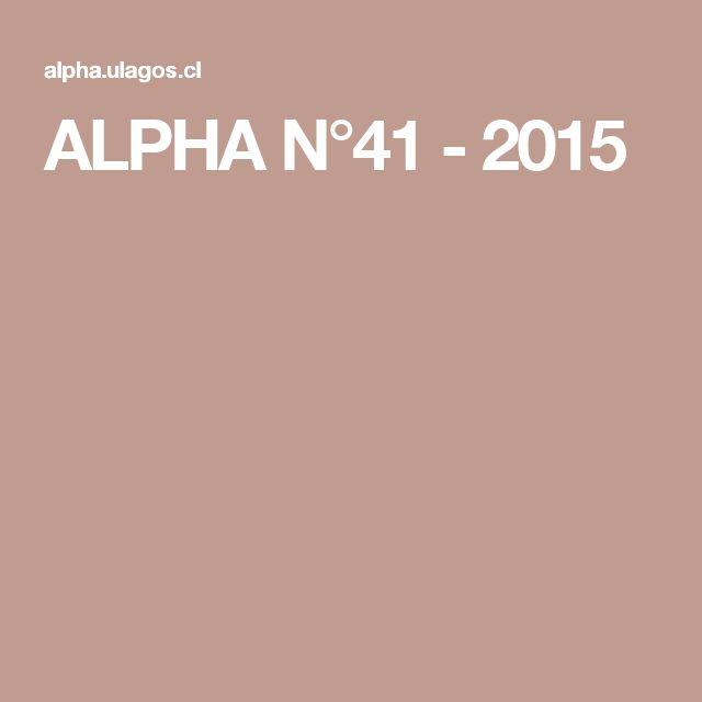 ALPHA N°41 - 2015