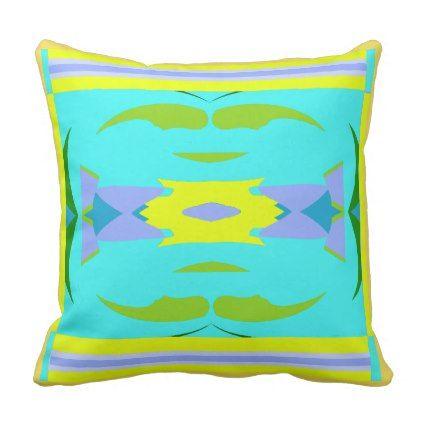 Modern Pillow-Home Decor- Yellow/Aqua/Green/Purple Throw Pillow - modern gifts cyo gift ideas personalize