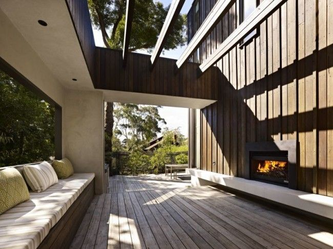 Shiplap timber and rammed earth architecture   Designhunter - architecture & design blog