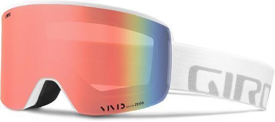 Giro Axis Snow Goggles White Wordmark Vivid Ember/Vivid Infrared