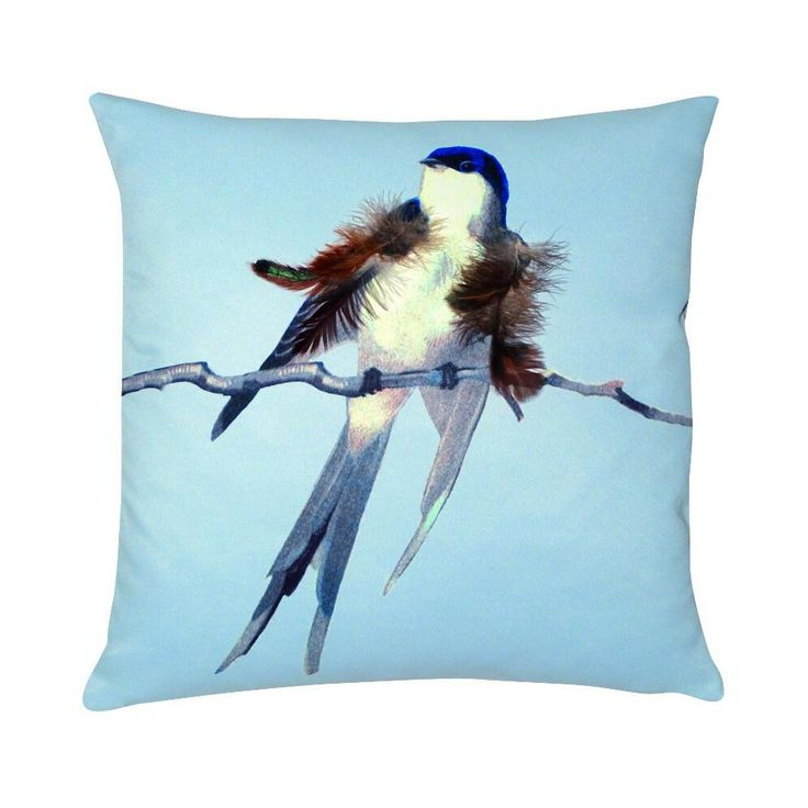 Jean+Paul+Gaultier+Cushion+Envol+Gris+-+Add+style+with+the Jean+Paul+Gaultier+Envol+Gris+Cushion.  The+cushion+features+an+adorable+bird+perched+on+a+branch+fluffing+up+its+feathers+set+against+a+radiant+backdrop.+The+cushion+comes+with+a+coordinating+subtle+grey+coloured+plain+reverse+fabric+and+is+finished+with+removable+cushion+cover+with+inner+pad.  This+accessory+from+Jean+Paul+Gaultier+will+add+new+layers+of+designer+style+to+the+sofa+in+the+living+space+or+to+your+bed.  Inject+colour