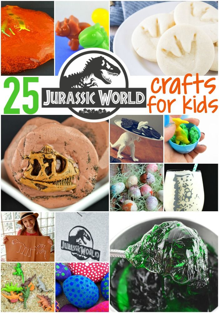 25 Roaring Jurassic Crafts Kids Can Do - for the budding paleontologist in your home! Click now!