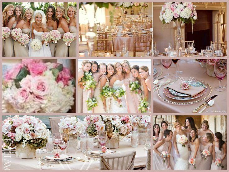 Soft Romantic Vintagey Champagne And Blush Wedding Inspiration