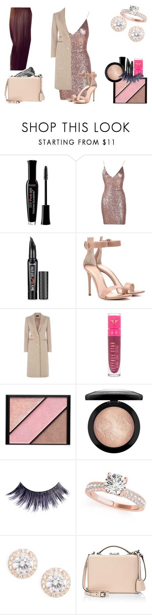 """""""Lucille Victoria Austin"""" by shestheman01 ❤ liked on Polyvore featuring Bourjois, Benefit, Gianvito Rossi, Jeffree Star, Elizabeth Arden, MAC Cosmetics, Manic Panic NYC, Nadri and Mark Cross"""