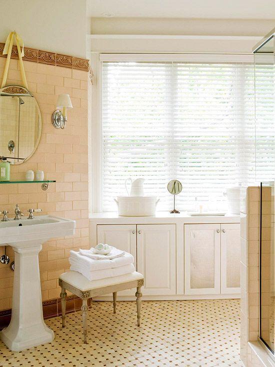 17 best images about amazing tile on pinterest for Peach tile bathroom ideas