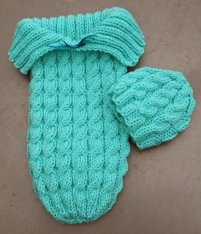 MyKnits.Ru: Кокон, конверт для малыша. Вязание спицами. Оригинал и мое исполнение