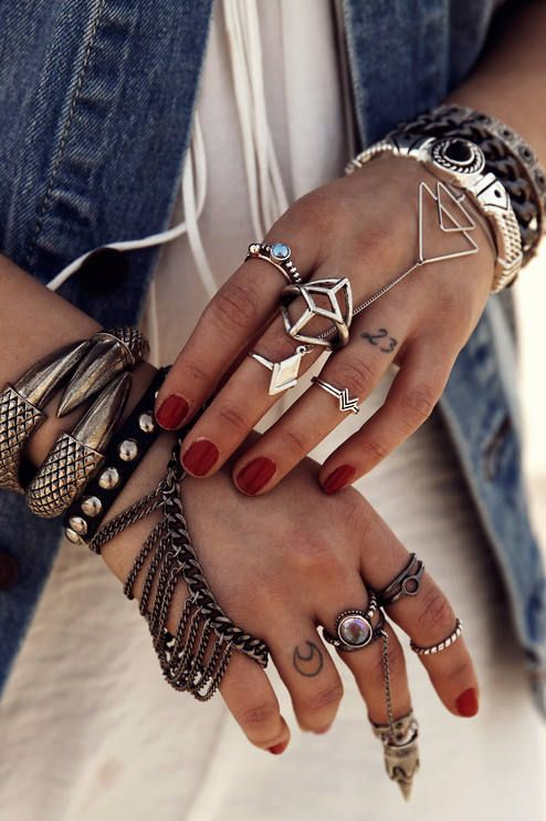 Gypsy Boho Bohemian Style Inspiration Jewelry. For more follow www.pinterest.com/ninayay and stay positively #pinspired #pinspire @ninayay
