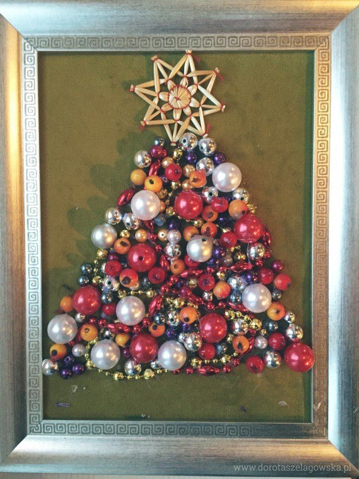 Christmas Tree decoration DIY. Create a beautiful decorative xmas tree in a picture frame.