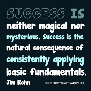 Success is neither magical nor mysterious. Success is the natural consequence of consistently applying basic fundamentals. - Jim Rohn