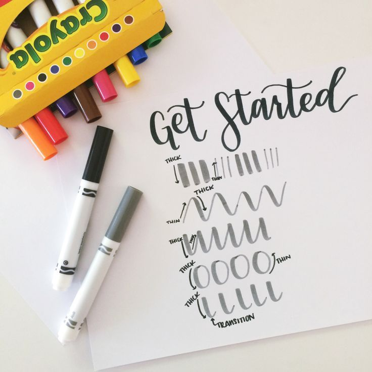 Grab some Crayola markers RIGHT NOW & get started with hand lettering! Use these basic strokes to help you get started!