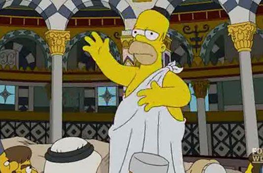 Homer Simpson struck with the Jerusalem syndrome during his visit to Jerusalem