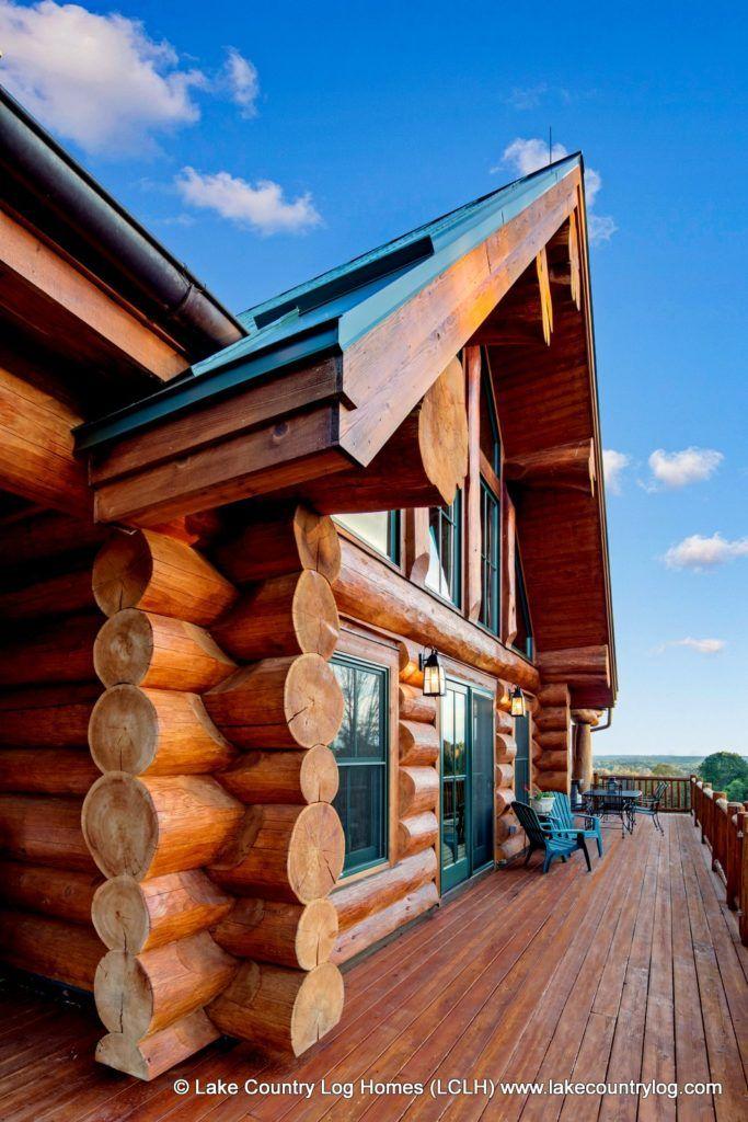 Great Room Bump Out Of A Custom Western Red Cedar Log Home We Built In Connecticut In 2020 Log Homes Cedar Log Home