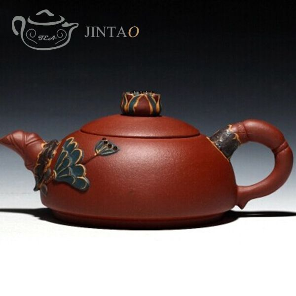 Find More Coffee & Tea Sets Information about Lotus Teapot Chinese Kungfu tea sets Yixing purple clay ZISHA Teapot handmade drinkware 450ml,High Quality teapot cup,China teapot glass Suppliers, Cheap teapot picture from JINTAO-Flowing with the tea on Aliexpress.com
