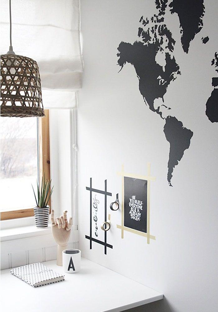 World map wall stickers Schön wäre es die einzelnen Ziele mit goldenen Akzenten zu betonen... Oder mit Herzen die Metropolen zu unterstreichen.    Habe ich auf der Channel Show gesehen :)