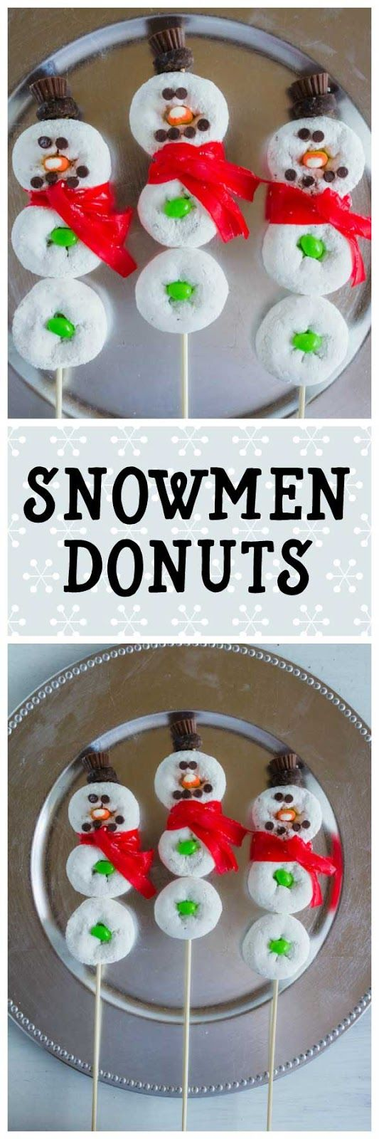 Fun Snowment Donuts!  Perfect to make during the winter months as a surprise treat!