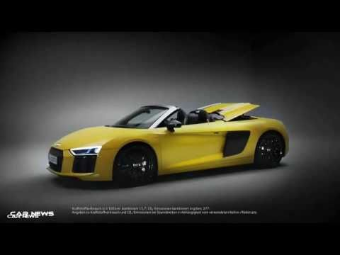 SUBSCRIBE for New Cars:  https://www.youtube.com/c/wmediatv?sub_confirmation=1  Audi R8 Spyder V10 is immediately apparent at first glance. The forward position of the passenger compartment the highly accentuated wheel arches and the long back define the classic silhouette of a mid-engine sports car.  Athletic: wider than predecessor  The new Audi R8 Spyder is 14 millimeters (0.6 in) shorter than the previous model and thus measures exactly 4426 millimeters (14.5 ft) in length. It has grown…
