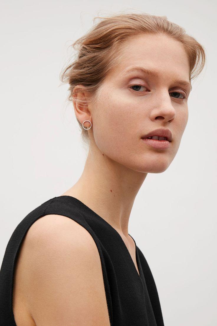 COS image 5 of Circular stud earrings in Silver
