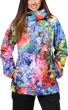"File this under ""I Wish!"": Nike Alpenglow Blue Printed 10K Girls Snowboard Jacket 2014 at Zumiez : PDP"