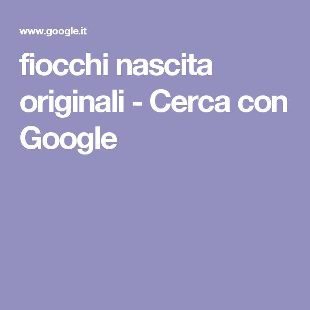 fiocchi nascita originali - Cerca con Google