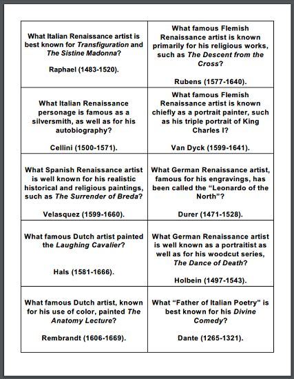 Questions on world history