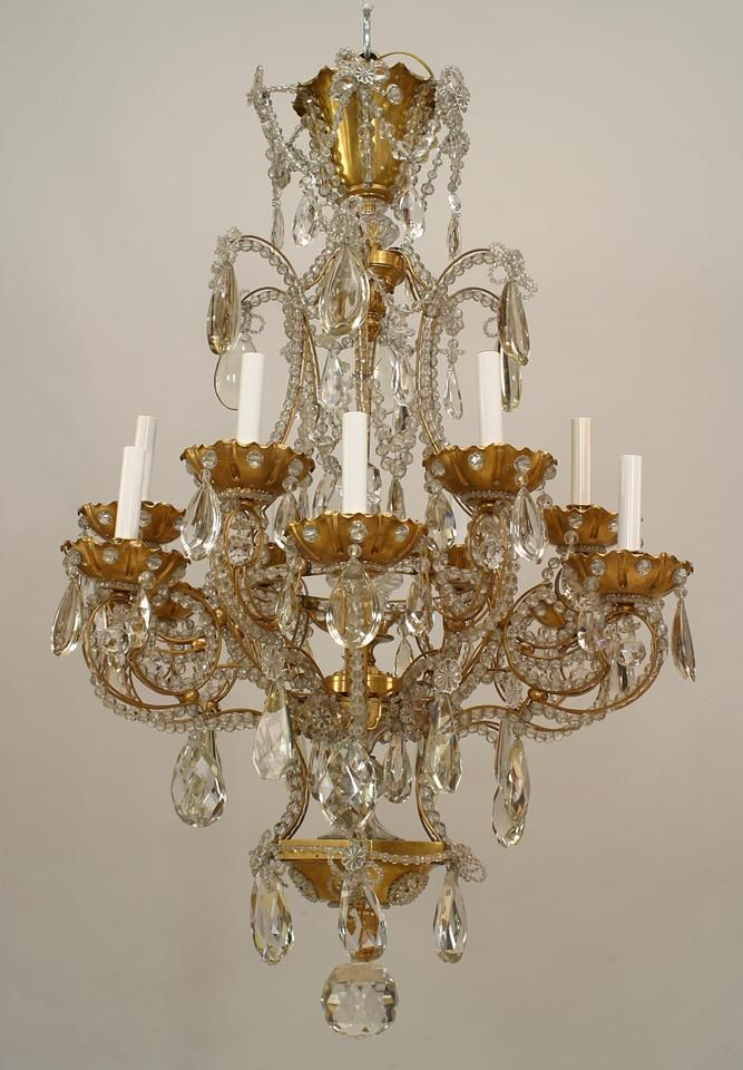 Art Deco French lighting chandelier crystal 203