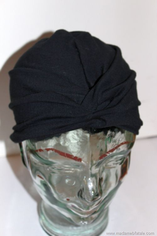 diy turban finished