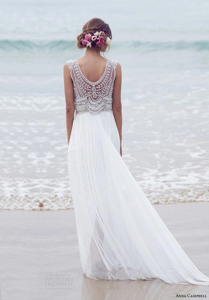 Casamento na praia - vestido de noiva delicado
