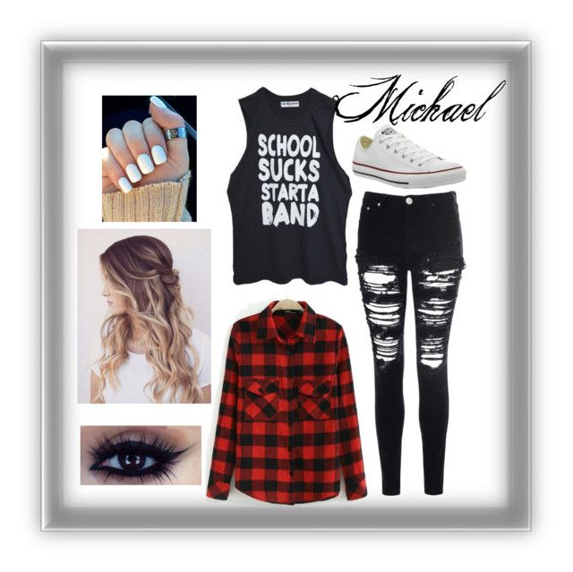 """""""Untitled #1"""" by kenzierobertson-xoxo on Polyvore featuring Glamorous and Converse"""