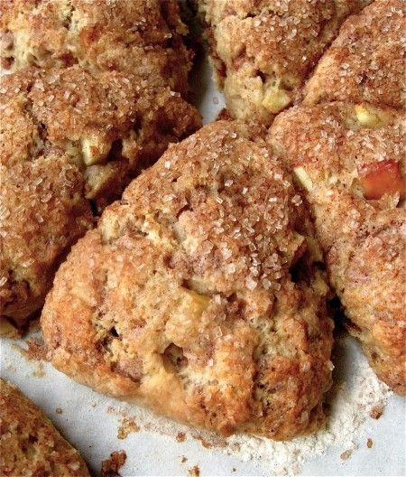 """~ Fresh Apple Cinnamon Scones...now Bud... """"if"""" you are really going to make scones """"perhaps"""" these should be the ones..... and then you can call me to help you eat them.... K?"""
