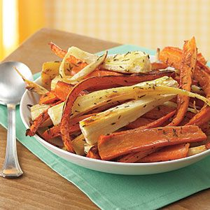 Roasted Carrots and Parsnips Recipe | MyRecipes.com. My favorite and simplest way to do parsnips;)
